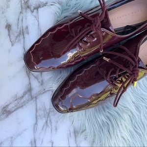 Zara Trafaluc Platform Patent Leather Loafer
